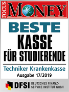 Focus Money Logo Beste Kasse für Studenten